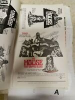 """The House That Dripped Blood Pressbook. 1970. VG/FN 9x12"""" UnCut. Christopher Lee"""