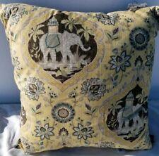 "Hallmart Collectibles Yellow Gray 18"" Decorative Elephant Pillow- Medallic Maize"