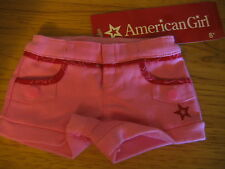American Girl DOLL Pink Red SHORTS  NEW  Sold Out  CUTE!!