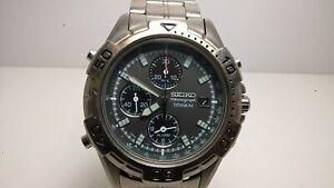 Seiko Prospex Speedmaster SBDP009 7T32-7H40 Titanium Alarm Chrono; Papers/Braclt
