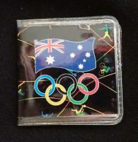 AUSTRALIA 1992 $1 COIN in WALLET UNC to COMMEMORATE BARCELONA OLYMPIC GAMES