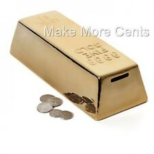 Gold Money Bank Coin Piggy Bank by Kikkerland - FREE SHIPPING