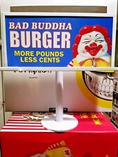 Mindstyle Ron English Bad Buddah Burger Mc Supersized Billboard Sign New