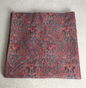 Ralph Lauren Venice Beach Collection Meredith Paisley Red Cotton Twin Flat Sheet