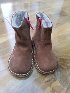 Mini Boden Girls Brown Short Suede Boots size 22 UK 5. BRAND NEW. RRP £45