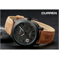 DA CURREN UOMO OROLOGIO Analogico QUARZO MODERNO SPORT WATCH zq