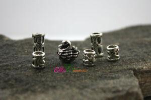 6 dreadlock beads/Swan beads/beard beads/Heavy metal beads