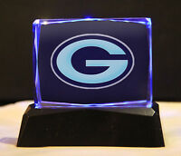 Green Bay Packers Crystal Paper Weight - Collectible memorabilia