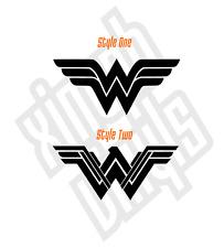 Wonder Woman Xmen Avengers Vinilo Pegatina Calcomanía Coche Insignia nombre CD Comic Ipad Película