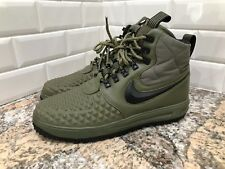 Nike Lunar Air Force 1 Duckboot 17 Medium Olive Green LF1 916682-202 SZ 9