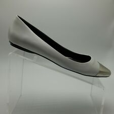 Messeca New York Womens Ivory Flats Gold Cap Toe Size US 8M EU 38 39