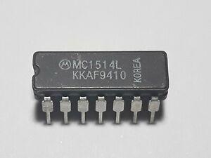 5 pieces MC1514L Motorola IC Dual Differential Voltage Comparators  -55C -125C