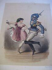"BELLE LITHOGRAPHIE COULEURS "" CARNAVAL PRUSSIEN"" 1845 Signé HAUSER MILITAIRE"