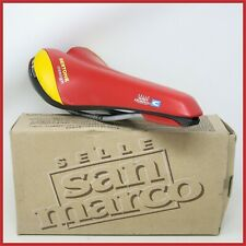 NOS SAN MARCO SE BERTONE DESIGN RED SADDLE SEAT VINTAGE 90S ROAD BICYCLE RACING