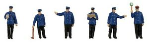 Faller 151623 Bahnpersonal Epoche III 6 Figuren H0 1:87 handbemalt Neu