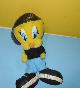 "1998 Looney Tunes Street-Cred Hip Hop Rap Tweety Bird 12"" Plush Toy - ACE"