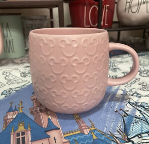 Disney Parks Exclusive Homestead Mickey Mouse Icon Pink Coffee Mug New