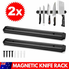 2X Magnet Wall Mount Knife Holder Utensil Magnetic Shelf Kitchen Rack Tool