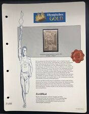 Olympics Los Angeles 1984 USA Gold stamps 99,8% Goldauflage* Only 4.999 MNH 8/9