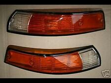 Treser Frontblinker-Set Orange/Weiß schwarzer Rahmen passend für Porsche 911, RS