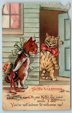 Postcard Louis Wain Cats To My Valentine 1911 Ernest Nister AA8