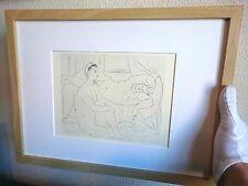 PABLO PICASSO. Suite Vollard #10 Litografía original vintage 1956 Ed Hatje Print