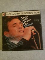 3 1/2 IPS - JOHNNY CASH'S GREATEST HITS, VOL.1  4-TRACK REEL TO REEL TAPE CQ 940