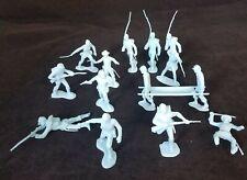 Marx Reissue Civil War Union Soldier Plastic Toy Lot Of 14 Figures W/ Stretcher