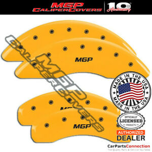MGP Caliper Brake Cover Yellow 15210SMGPYL Front Rear For Audi A8 Quattro 08-09