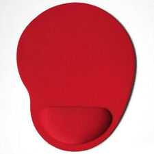 Red mouse mat with wrist rest support