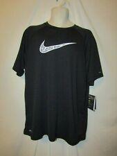 mens nike dry t shirt XL nwt  black upf40