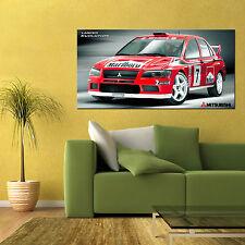 MITSUBISHI LANCER EVOLUTION EVO VII WRC RALLY CAR LARGE AUTOMOTIVE POSTER 24x48