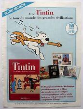 page de publicite -  SORTIE LIVRE   TINTIN  en  2010 ref. 49813