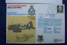 FIRST DAY COVER No71 EAGLE SQD 1st USA in RAF SIGNED CAPTAIN JANKOWSKI !stUSAF