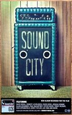 SOUND CITY REAL TO REEL Ltd Ed Discontinued RARE Poster! FOO FIGHTERS DAVE GROHL