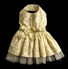 S Golden Snowflake Dog dress clothes pet clothing Christmas Small  PC Dog®