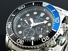 Seiko Solar Men's Chronograph Stainless Steel Divers 200M Watch SSC017P1