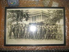 Boy Scout Troop from Sterling Institute Over Sized Photograph, framed, 1930's