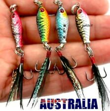 4 metal fishing lures bait tackle small , spoon Freshwater fishing trout lure