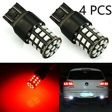 JDM ASTAR 4x 7443 7440 LED Super Red 33-SMD Turn Signal Brake Tail Lights Bulbs