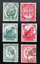 Deutsches Reich Mi 544-545 + 546-547 + 554-555 , Gestempelt