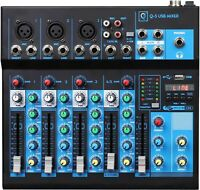 Oqan Mixer Q5 MK2 USB - Bluetooth IN 5 Channels With Player USB & Effects