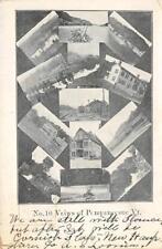 No. 10 Views of Pompanoosuc, Vermont Multiview 1908 Vintage Postcard