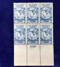 NANEE-B A112) US  # 733,PB OF 6 MNGNH BRYD ANTARCTIC 1933 3 CENT