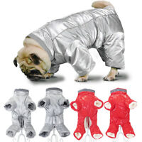 Dog Winter Jumpsuit Waterproof Warm Coat Jacket French Bulldog Clothes Boy/Girl