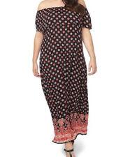 Evans Womens Border Print Maxi Dress Size 14