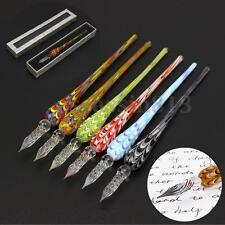 Vintage Crystal Glass Dip Pen Signature Filling Ink Fountain Pens With Gift Box