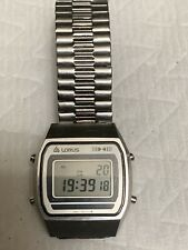 Vintage 1980s Men's LORUS Digital LCD  Stainless Steel Chrono