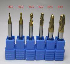 diameter 1mm 2mm 3mm 4mm 5mm 6mm HRC58 Carbide Ball Nose End Mill milling cutter