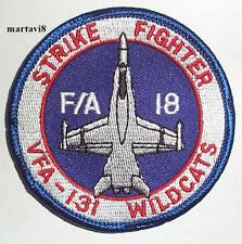 US.Navy F-18 Hornet `VA-131 Wildcats` Squadron Cloth Badge / Patch (F18-4)